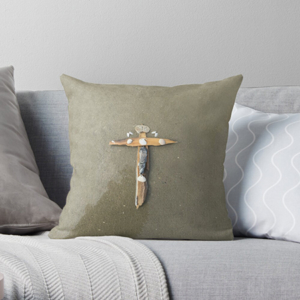 Beach Cross Throw Pillows