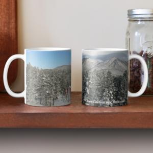 Peaceful Winter Snow Scene on Ceramic Mug